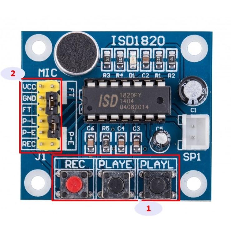 아두이노 음성녹음 모듈 ISD 1820